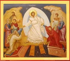 Рамблер/картинки Orthodox Catholic, Christ Is Risen, Holy Week, Art Icon, Orthodox Icons, Sacred Art, Christian Art, Religious Art, Holy Spirit