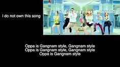 psy gangnam style lyrics english translation - YouTube