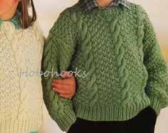Baby / childs / childrens aran sweaters in 4 styles 18 to 28 Baby Knitting Patterns, Baby Patterns, Knitting Yarn, Cable Sweater, Men Sweater, Sweater Cardigan, Boys Sweaters, Aran Sweaters, Pull Bebe