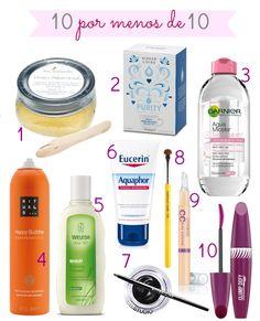 10 productos de belleza que me encantan por menos de 10 euros |A beauty and healthy life