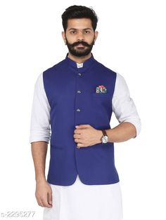 Ethnic Jackets Stylish Cotton Viscous Blend Printed Ethnic Jacket Fabric: Cotton Viscous Blend Sleeves: Sleeves Are Not Included Size: 36 in ,38 in ,40 in ,42 in ,44 in (Refer Size Chart) Length: (Refer Size Chart) Type: Stitched Description: It Has 1 Piece of Men's Ethnic Jacket Pattern:Solid  Sizes Available: 50, 52, 36, 38, 40, 42, 44, 46, 48 *Proof of Safe Delivery! Click to know on Safety Standards of Delivery Partners- https://ltl.sh/y_nZrAV3  Catalog Rating: ★4.2 (349)  Catalog Name: Men's Stylish Cotton Viscous Blend Printed Ethnic Jackets Vol 1 CatalogID_306072 C66-SC1202 Code: 166-2295277-