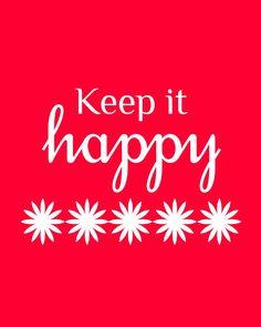 keep it HAPPY