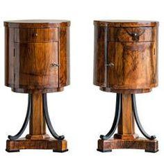 Biedermeier Period Walnut Cabinets, Germany circa 1820 -1860