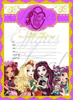 Ever After High Inspired Instant Download Print by EternalEffigies, $15.00