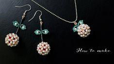 Beaded fruit earrings. Beaded earring tutorial. How to make jewelry - YouTube