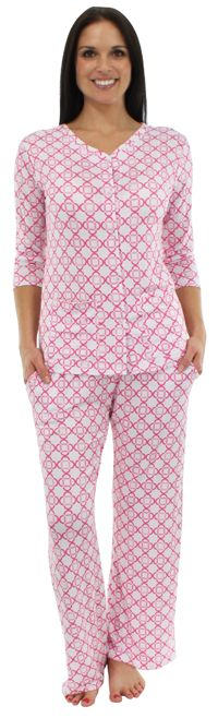 """These PJs keep you cooler in the summer and warmer in the winter: bsoft """"Cherry Blossom Bubbles"""" Pink Lounger Cotton Pjs, Keep Your Cool, Cherry Blossom, Pajama Set, Bubbles, Jumpsuit, Cat, Night, Store"""