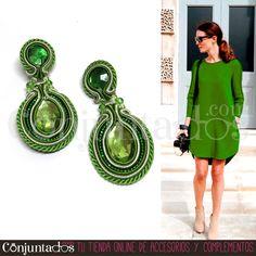 Destaca con esta #joya #artesanal. Nuestros #pendientes de #soutache Dori son piezas hechas a mano, de #diseño #exclusivo ★ Precio: 24,95 € en http://www.conjuntados.com/es/pendientes/pendientes-de-soutache.html ★ #novedades #earrings #conjuntados #conjuntada #joyitas #jewelry #bisutería #único #EdiciónLimitada #LimitedEdition #bijoux #accesorios #complementos #moda #fashion #outfit #estilo #style #GustosParaTodas #ParaTodosLosGustos #handmade