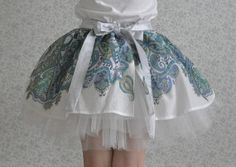 Kids pattern party skirt tutus for girls layered fluffy by PuhPah, €45.00