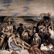 Eugène Delacroix, Massacre at Chios Louvre. Eugène Delacroix, Scene of… Delacroix Paintings, Eugène Delacroix, Romanticism Artists, Empire Ottoman, Art Français, William Turner, Famous Art, Oil Painting Reproductions, Magritte