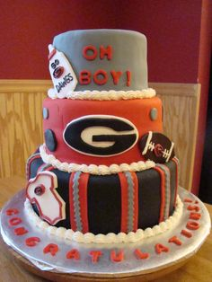 Georgia Bulldog Baby Shower