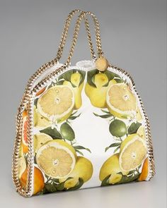 Current Obsession: Fresh & Fruity | Stella McCartney Falabella fruit print tote | Mint Sprinkles