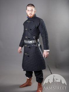Mittelalterliches Gambeson: wattiertes Rüstungsgambeson