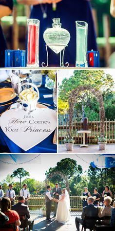 Jessica & Josh Florida Wedding Inspiration   Wedding at the Brevard Zoo   Disney Themed Wedding   Vermont Bride Magazine