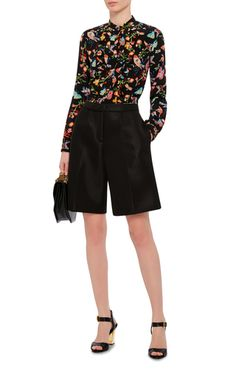 Black Technical Mesh Tailored Shorts by SIMONE ROCHA Now Available on Moda Operandi