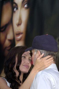 Gazing into the eyes of then husband Billy Bob Thornton at the Original Sin premiere in July 2001.