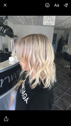 Beautiful blonde Balayage, babylights with root smudge. Using olaplex 1 & 2 and joico lumishine. Hair by Nicola hairworks bolton