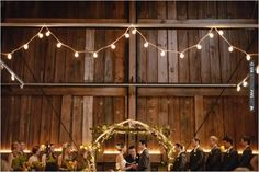 rustic barn wedding ceremony | CHECK OUT MORE IDEAS AT WEDDINGPINS.NET | #weddings