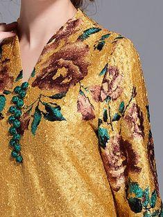 Vintage Printed/Dyed Half Sleeve Mini Dress