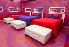 The Big Brother Canada house got a chic makeover for season What better than an espionage inspired theme as cameras spy on houseguests Take a tour of the new house! Big Brother Canada, Canada House, Season 8, House 2, Headboards, Ottomans, Moonlight, February, New Homes