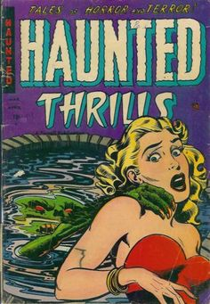 Comic Book Cover For Haunted Thrills #14