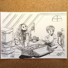 Yenthe Joline Art • Inktober day 4. Oops, the girl's eyes turned out a...
