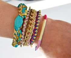 ten min. diy bracelets made out of old beads jewels and other stuff with chains and string!!!!