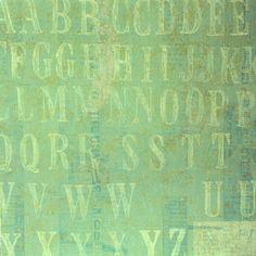 Pastel Alphabet Coordinates Printed 12 x 12 Scrapbook Paper is available at Scrapbookfare.