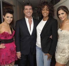 Dannii Minogue, Simon Cowell, Whitney Houston and Cheryl Cole