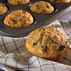 Honey Raisin Bran Muffins, made with Raisin Bran cereal.
