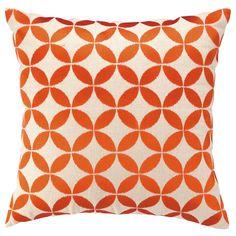 Circle Orange Embroidered Pillow @Zinc_Door