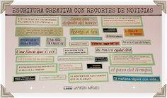 LAPICERO MÁGICO: Escritura creativa con recortes de noticias Verb Tenses, School, Learning, Creativity, Writing Activities, Creative Writing, Teaching Resources, Art Kids, Verb Forms