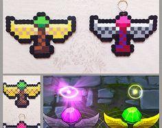 League of Legends Pink + Green Ward Ornamental Bead Sprites (Original Design)