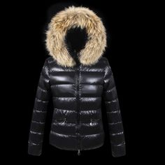 8cd2264e15c2 2014 Moncler Down Jackets For Women With Fur Cap Black UK New Design On  Sale UK