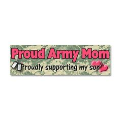 Proud Army Mom supporting my son JUSTIN!!