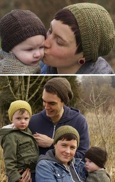 Free knitting pattern for Barley Hat for the Whole Family - Tin Can Knits designed this easy hat pattern that adds style by contrasting panels of garter stitch and stockinette. Sizes for the whole family from Baby to Adult Large. tba easy baby hat