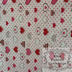 Red Hearts and Dots www.thefabricexchange.com