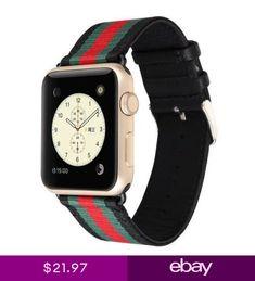 00e016d4b47 Apple Watch iWatch Band 38mm Gucci Pattern Case Belt Bracelet Men Women  Wrist