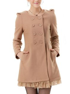 Korean Style Fashion Woolen Ball Large Long Coat