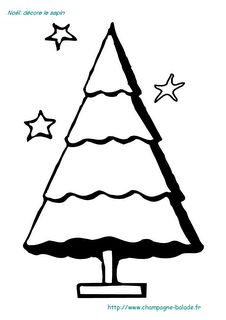 Coloriages ps on pinterest petite section coins and templates - Coloriage petit sapin ...