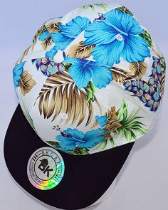 'Tropical Paradise Snapback Hat: Blue' http://www.shopaffordablychicboutique.com