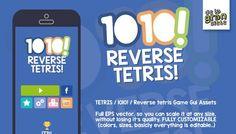 TETRIS / 1010! / Reverse tetris Game Gui Assets has just been added to GameDev Market! Check it out: http://ift.tt/1M0v6z9 #gamedev #indiedev