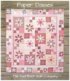 Paper Daisies - The Red Boot Quilt Company