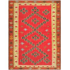 Antique Romanian Bessarabian Kilim | From a unique collection of antique and modern russian and scandinavian rugs at https://www.1stdibs.com/furniture/rugs-carpets/russian-scandinavian-rugs/
