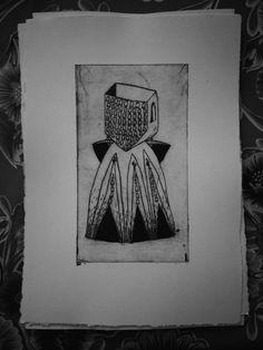 "Gravures sur tetra pak sorties du livre ""Garde-Robe"" Editions TETRA, 2016 (photo by Tetra Editions) Céline Guichard, 2016"