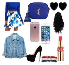 """""""Blue"""" by twilightytb ❤ liked on Polyvore featuring Charlotte Russe, Yves Saint Laurent, Dollydagger and Kim Rogers"""