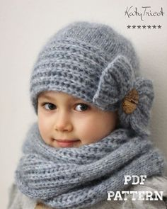 Knitting Pattern – COQUETTE (Toddler through Adult) – English, French & Russian Patron de tricot COQUETTE Tailles: enfant et adulte par KatyTricot Baby Knitting Patterns, Crochet Patterns, Crochet Baby, Knit Crochet, Cloche Hat, Stockinette, Yarn Over, Wool Yarn, Knitting Wool