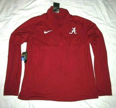 the latest cad82 3c7eb Nike Alabama Crimson Tide Dri-FIT 1 4 Zip Shirt Mens L  Nike