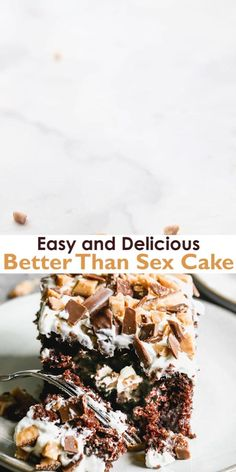 Easy Desserts, Delicious Desserts, Yummy Food, Better Than Anything Cake, Better Than Sex Cake Recipe, Fun Baking Recipes, Cake Recipes, Fudge, Chocolate Cake
