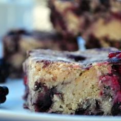 Paleo Blackberry Bars (GF, paleo) Recipe - Key Ingredient
