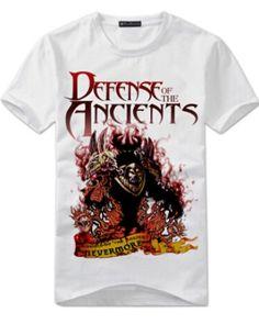 White Nevermore t shirt for boys game DOTA 2 hero tee short sleeve- Dota 2 T Shirt, Dota2 Heroes, Shorts, Tees, Sleeve, Casual, Mens Tops, Manga, T Shirts